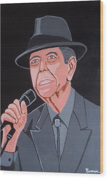 Leonard Cohen Wood Print by Eamon Reilly