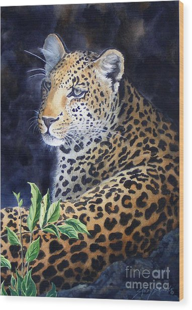 Leopard  Sold  Prints Available Wood Print