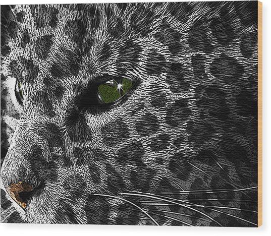 Leopard Within Wood Print