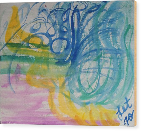 Let Go In The Spirit Wood Print by Bethany Stanko