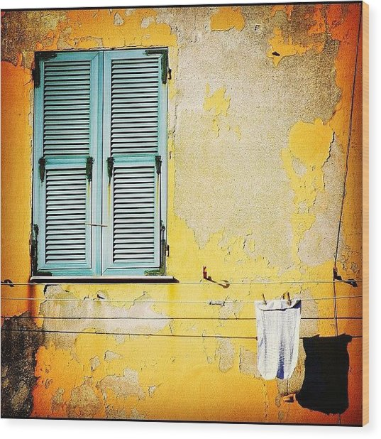 Let It All Hang Out #italy #wall Wood Print