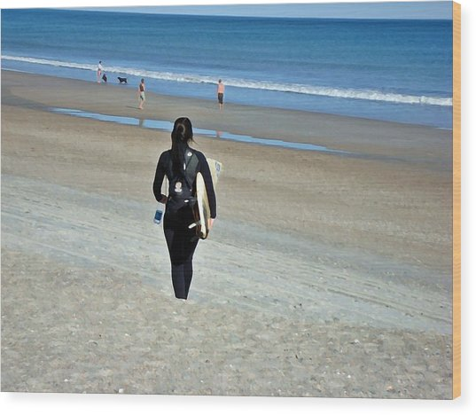 Let The Sea Set Me Free Wood Print