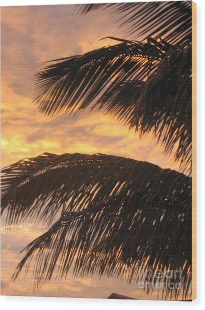 Lever Du Soleil - Ile De La Reunion Wood Print by Francoise Leandre