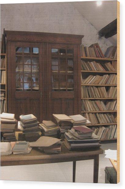 Library Sproockenhaus Wood Print