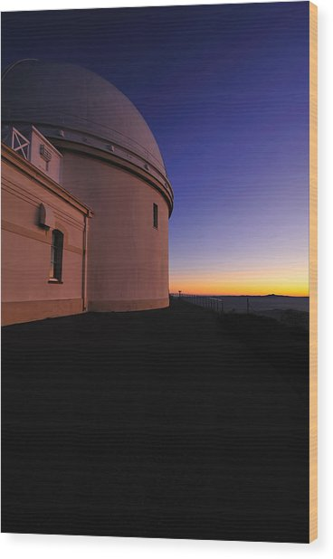 Lick Observatory Wood Print by Richard Leon