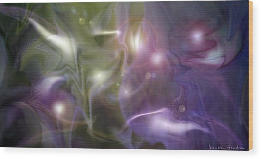 Light Dance Wood Print by Jeanean Gendron