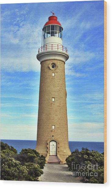 Light House At Cape Du Couedic Wood Print