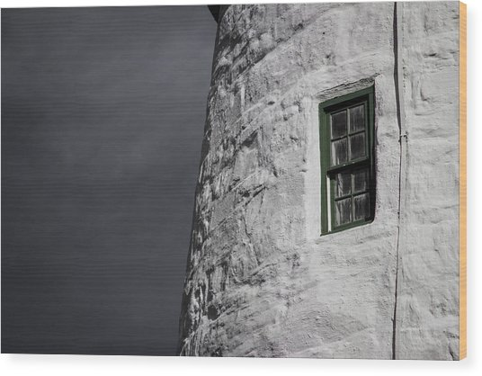 Light House Window Wood Print by Vintage Pix