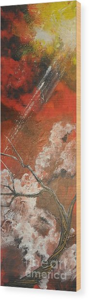 Light In The Red Sky Wood Print