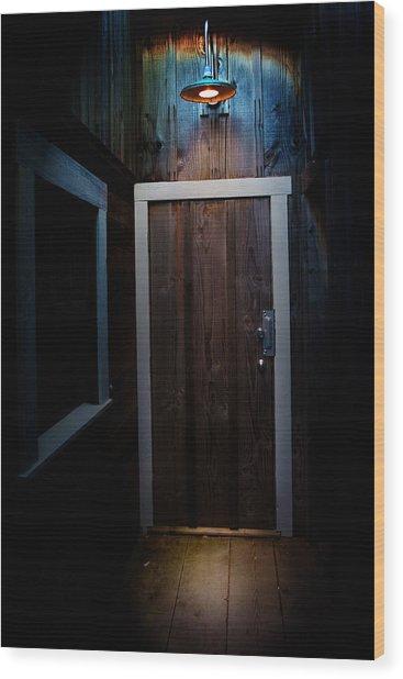 Lighted Doorway Wood Print by Raymond Potts