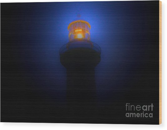 Lighthouse Glow Wood Print by Joanne Kocwin