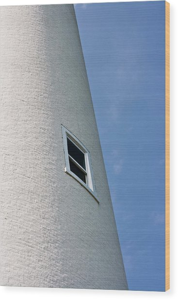 Lighthouse Window Wood Print by Jeffrey Auger