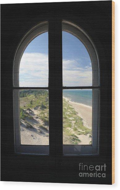 Lighthouse Window Wood Print
