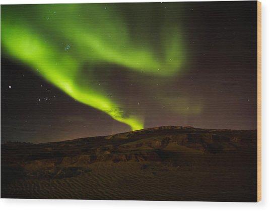 Lights Over The Desert Wood Print