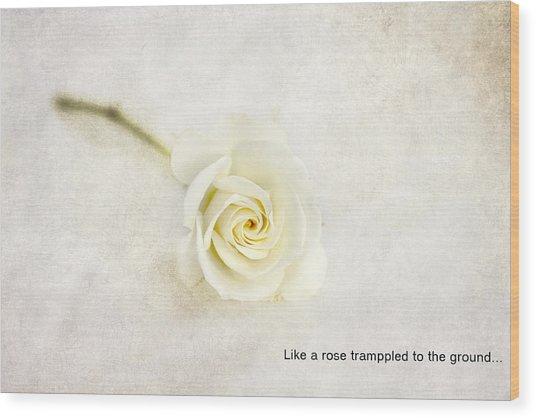 Like A Rose... Wood Print
