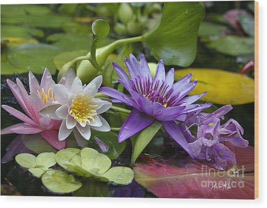 Lilies No. 26 Wood Print