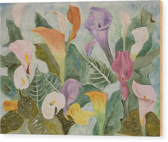 Lillies For Lilly Wood Print by Diane Vasarkovy