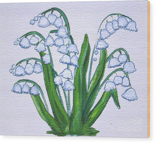 Lily-of-the-valley In Full Glory Wood Print