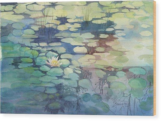 Lily Pond I Wood Print