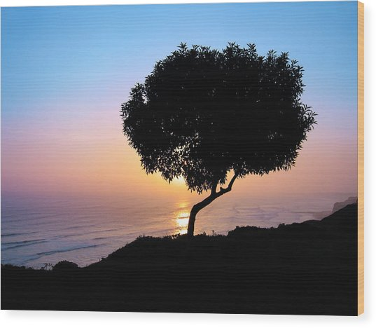Lima Sunset Wood Print