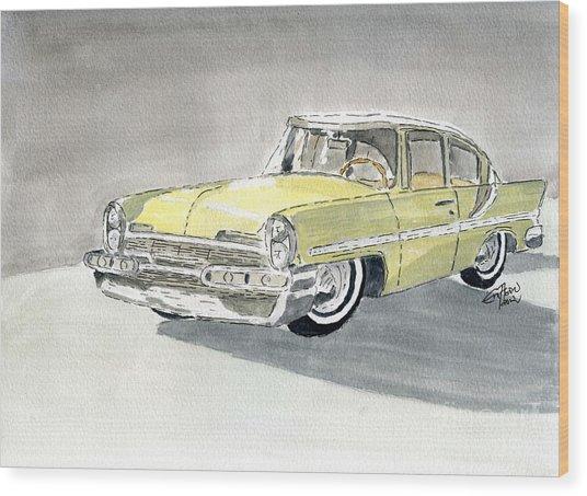 Lincoln Capri 1957 Wood Print