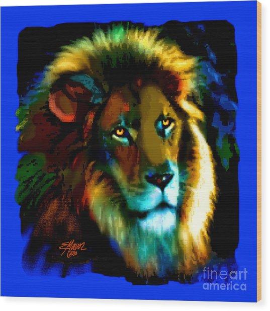 Lion Icon Wood Print