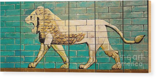 Lion Of Babylon Wood Print by Unknown - Local Iraqi National