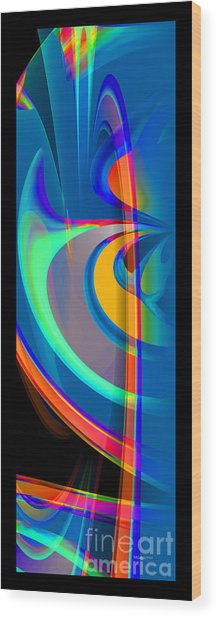Liquid Breeze Wood Print