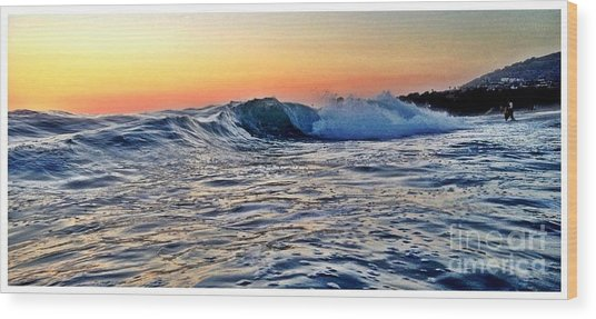 Little Big Wave Wood Print by Sebastian Acevedo