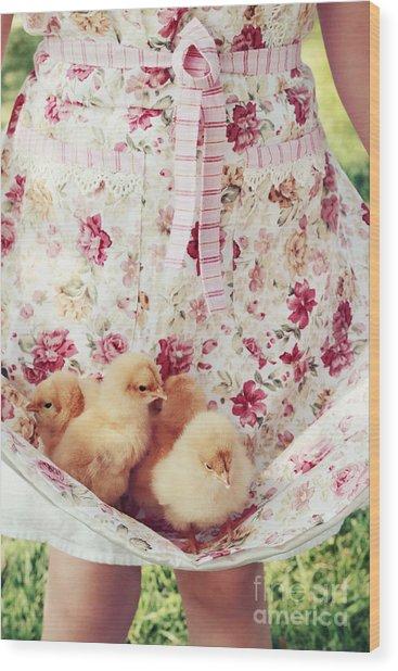 Little Chicks Wood Print