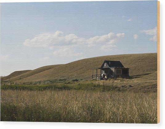 Little House On The Plains Wood Print