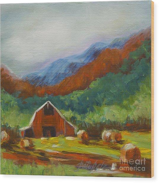 Little Red Barn Wood Print