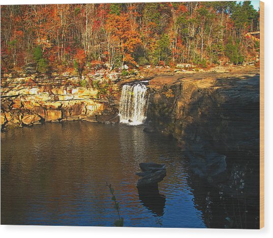 Little River Canyon 6412 Wood Print by J D  Whaley
