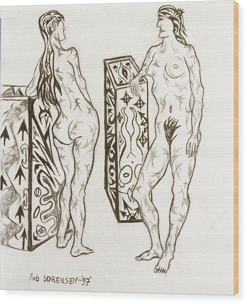 Live Nude 19 Female Wood Print