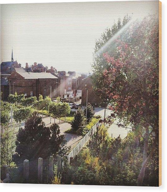 #liverpool #uk #england #tree #house Wood Print