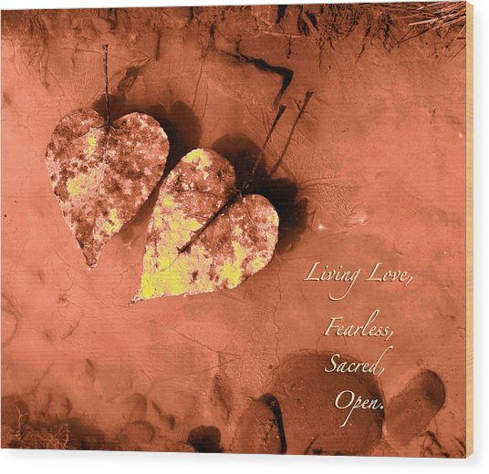 Living Love Wood Print