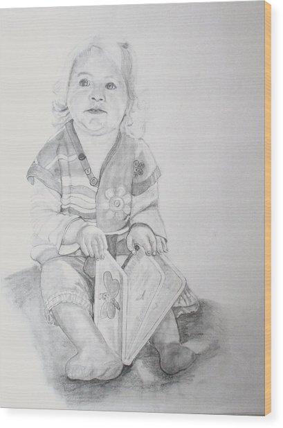 Livvy  Wood Print by Peter Edward Green