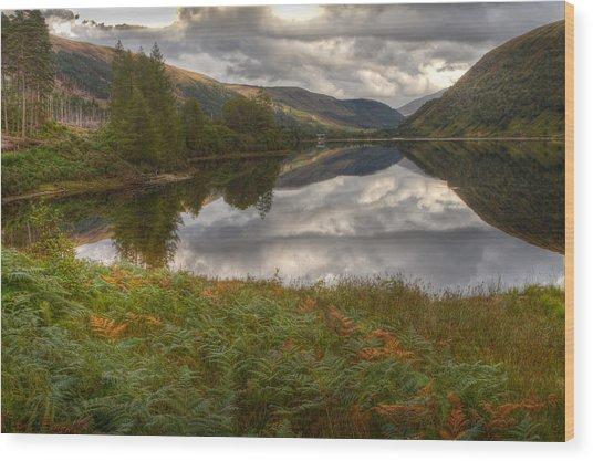 Loch Dughaill Scotland Uk Wood Print