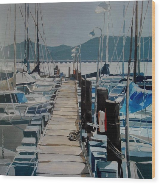Loch Lomond Marina Wood Print