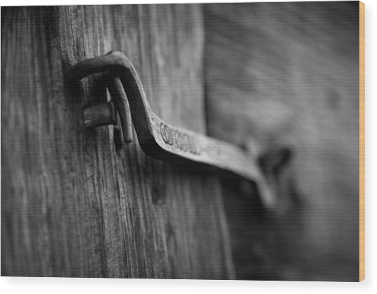 Iron Hinge #2 Wood Print by Vintage Pix