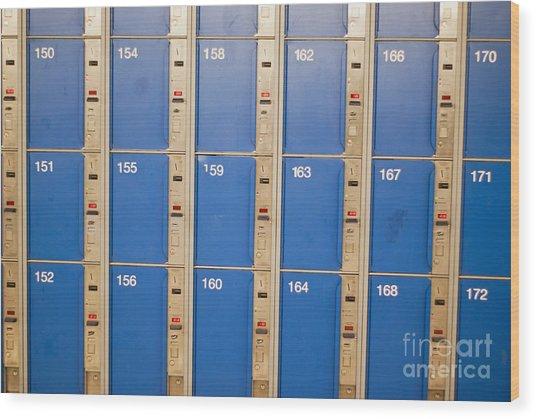 Lockers Wood Print by Boris Suntsov