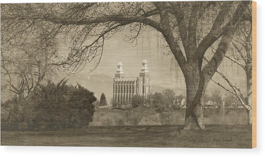 Logan Lds Temple Wood Print
