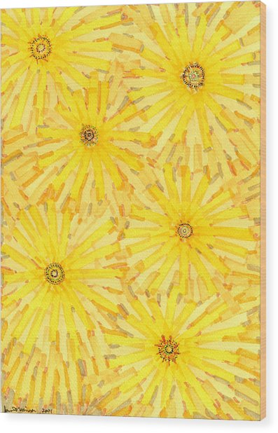 Loire Sunflowers One Wood Print by Jason Messinger