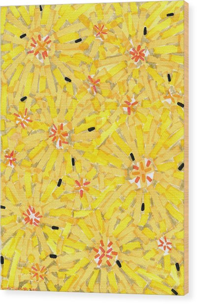 Loire Sunflowers Three Wood Print by Jason Messinger