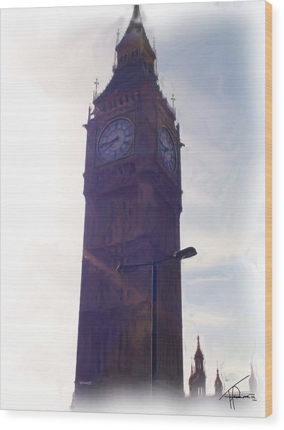 London Big Ben Wood Print by Thomas Frias