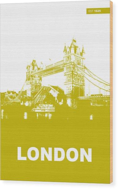 London Bridge Poster Wood Print