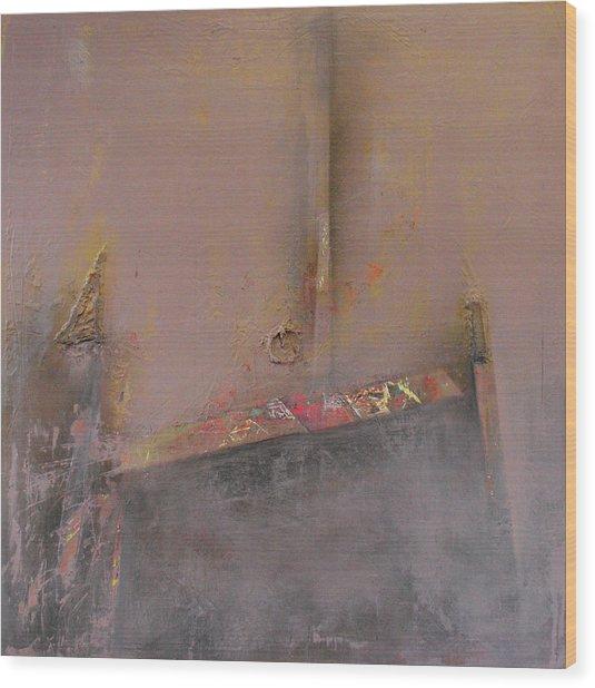 London Fog Wood Print by Ralph Levesque