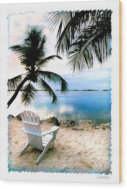 Lone Chair Morada Wood Print by Linda Olsen