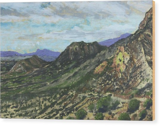 Lone Mountain Wood Print