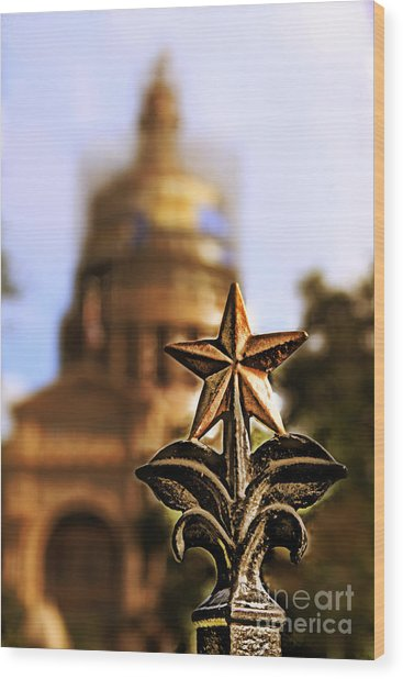 Lone Star Capitol Wood Print